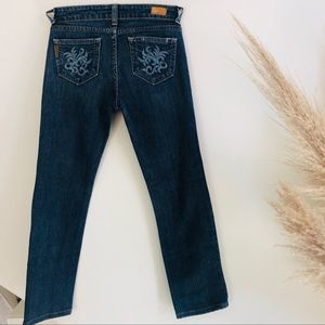 PAIGE Hollywood Hills Straight Leg Blue Jeans 26
